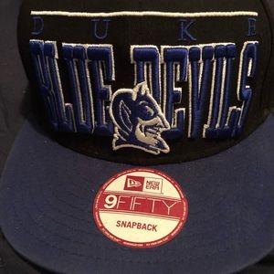 Blue devil hat